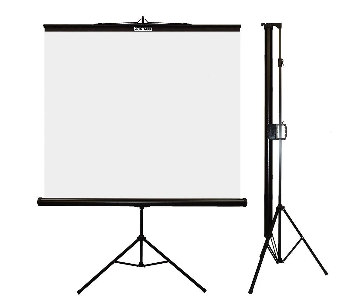 Nardelli NRT-001 Tela de Projeção Tripe Standart 1,5x1,5m  - Audio Video & cia