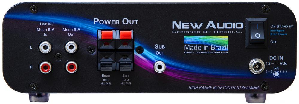 New Audio BIA200 Amplificador Estereo Bluetooth 200Wrms  - Audio Video & cia