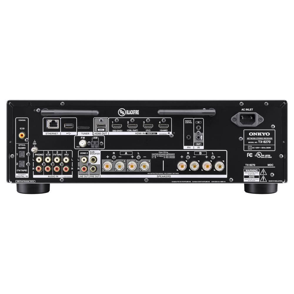 Onkyo TX-8270 - Receiver stereo A e B com entrada phono USB Bluetooth 80W rms  - Audio Video & cia
