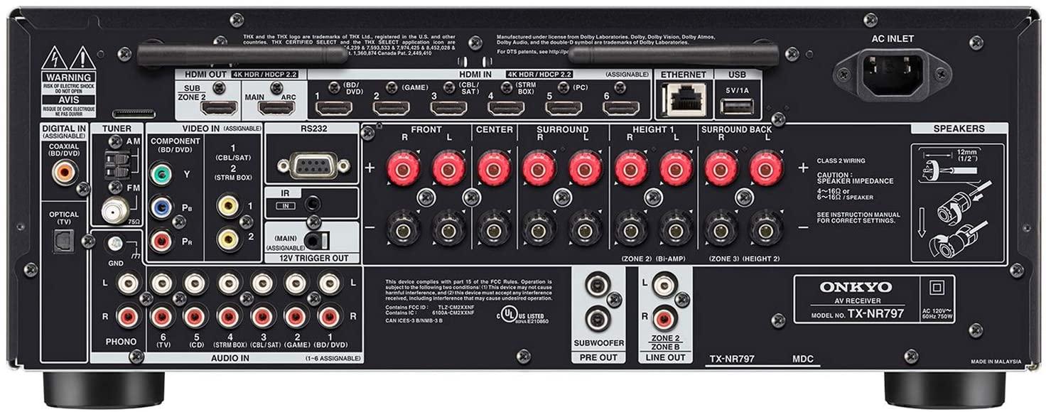 Onkyo Tx-nr797 Receiver 9.2 Canais Bluetooth  - Audio Video & cia