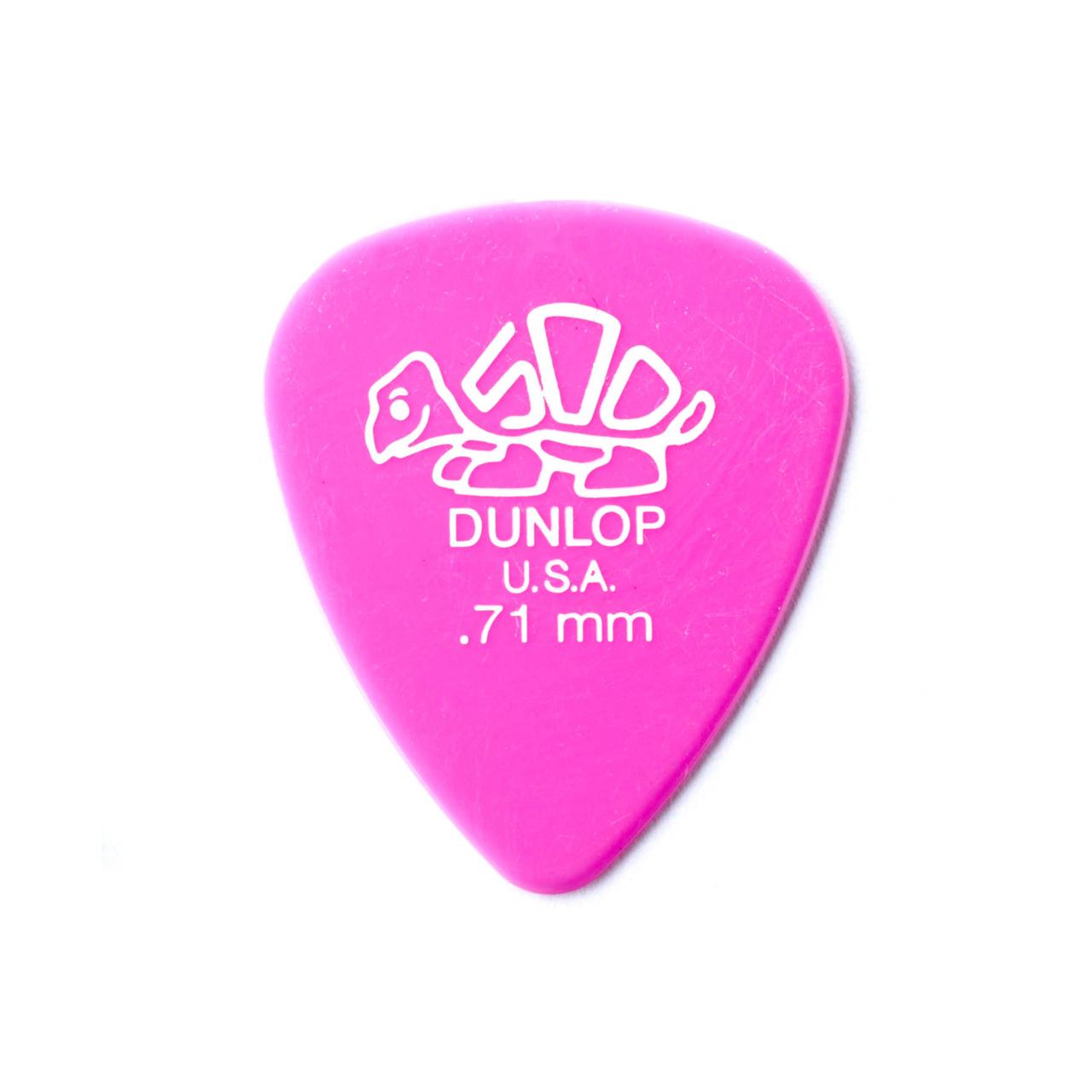 Palheta Delrin 500 0,71mm Pct C/72 41r.71 Dunlop  - Audio Video & cia