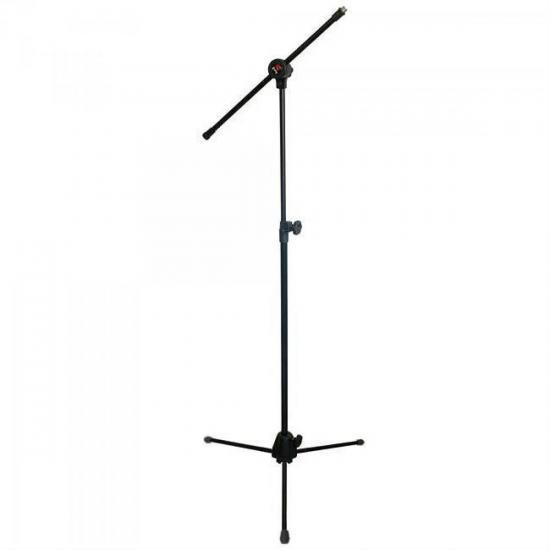 Pedestal Girafa Para Microfone PMG-10 Preto SATY  - Audio Video & cia