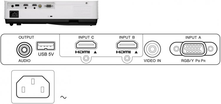 Projetor Sony VPL-DX270 XGA 3500 Lumens  - Audio Video & cia