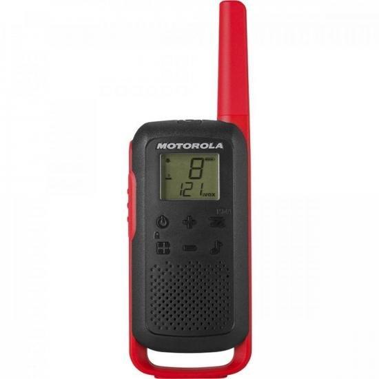 Rádio Comunicador Talkabout 32km T210BR Vermelho/Preto MOTOROLA - PAR / 2  - Audio Video & cia