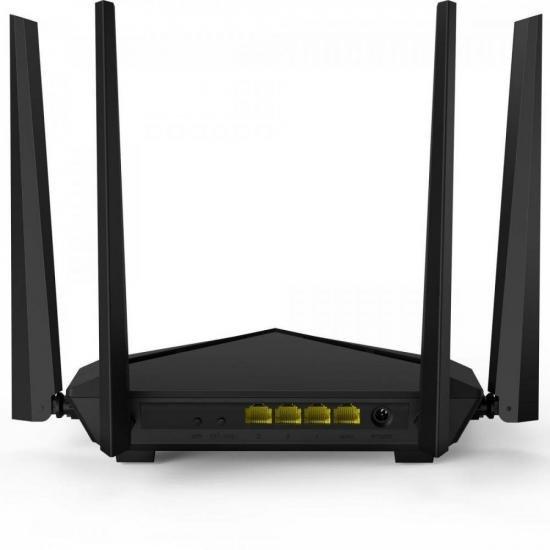 Roteador Gigabit Dual Wifi 1200Mbps AC10 Preto TENDA  - Audio Video & cia