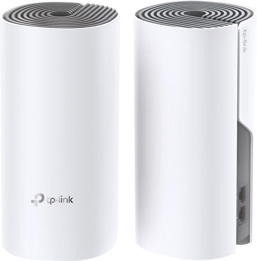 ROTEADOR WIRELESS FAST 10/100 AC1200 MESH MU-MIMO 2,4/5GHZ  DECO E4 (PACK 2)  - Audio Video & cia