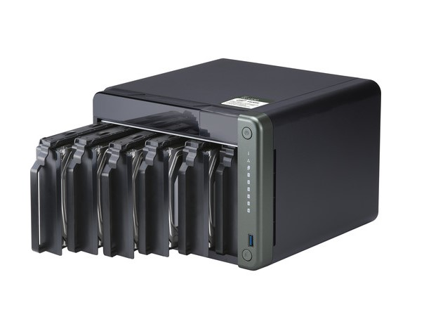 SERVIDOR DE DADOS NAS INTEL QUAD CORE 2.0GHZ - 4GB - 6 BAIAS SEM DISCO - TS-653D-4G-US  - Audio Video & cia