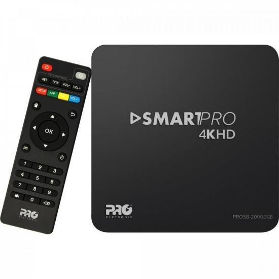 Smart TV Box Android 2GB PROSB-2000/2GB Preto PROELETRONIC  - Audio Video & cia