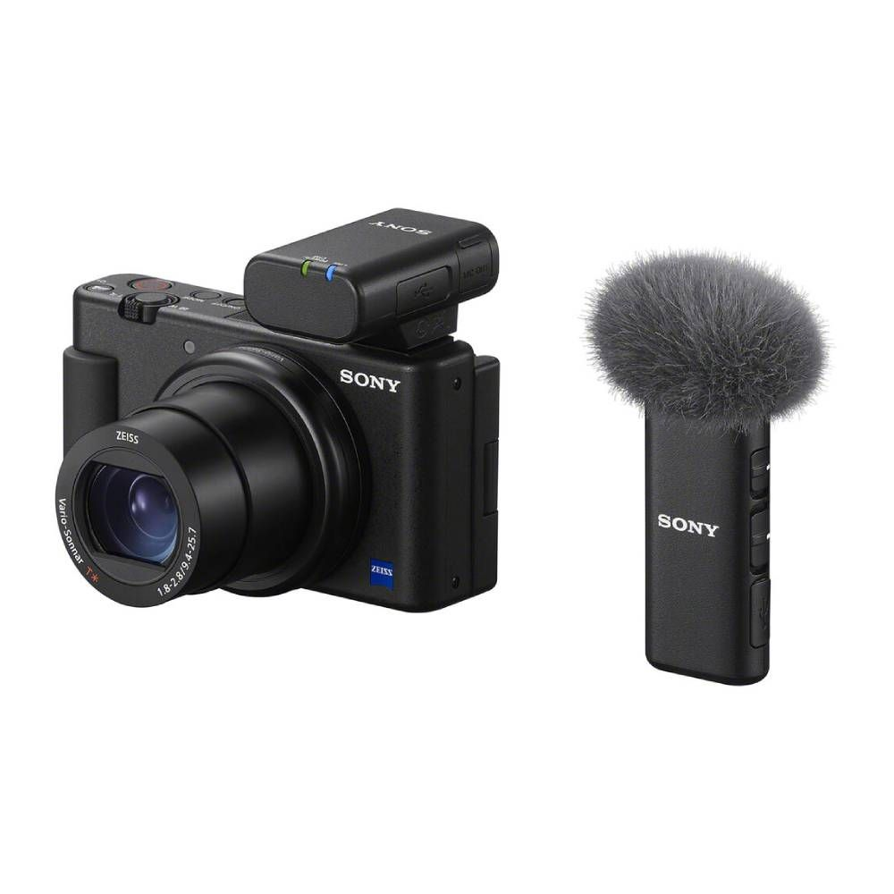 Sony ECM-W2BT Microfone Bluetooth - Preto  - Audio Video & cia