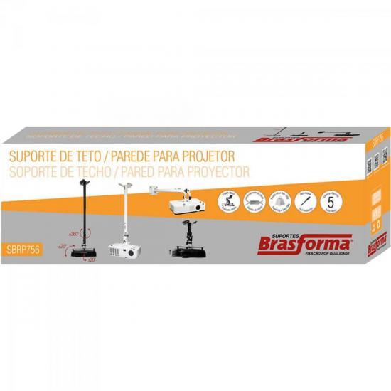 Suporte de Teto e Parede Para Projetor SBRP756 Preto BRASFORMA  - Audio Video & cia