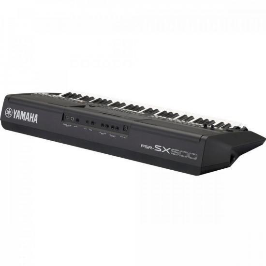 Teclado Arranjador PSR-SX600 Preto YAMAHA  - Audio Video & cia