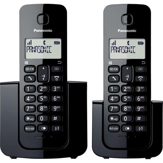 Telefone sem Fio com ID Base + Ramal KX-TGB112LBB Preto PANASONIC  - Audio Video & cia
