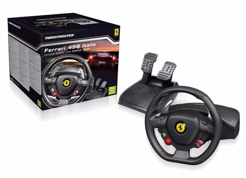 Thrustmaster Ferrari 458 Italia - Volante para Xbox 360 e PC - Preto  - Audio Video & cia