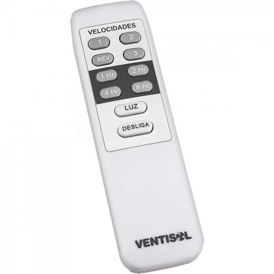 Ventilador de Teto 3 Pás 127V com Controle FENIX Branco VENTISOL  - Audio Video & cia