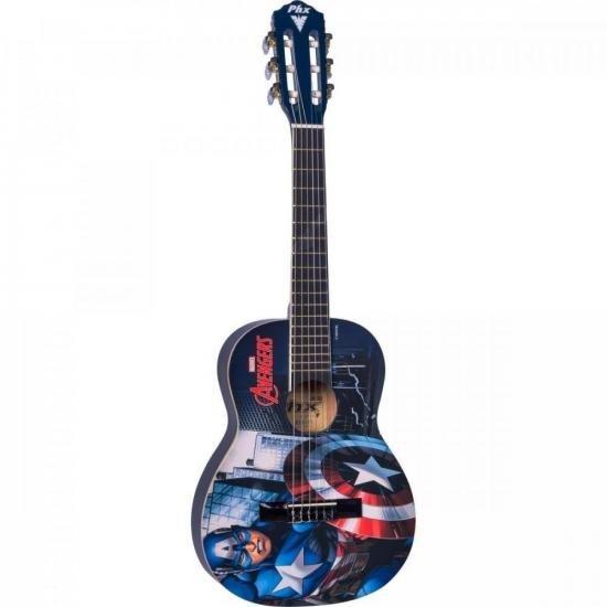 """Violão Acústico Infantil Nylon 30"""" (1/4) Marvel Capitão América VIM-C1 PHX  - Audio Video & cia"""