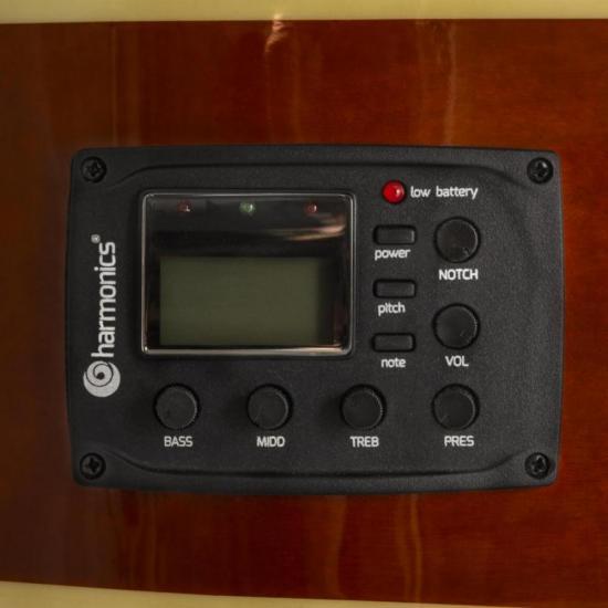 Violão Eletroacústico Nylon GE-20 Sunburst HARMONICS  - Audio Video & cia