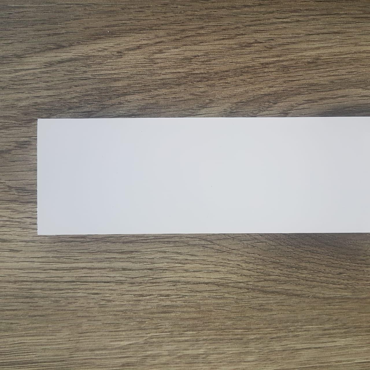 Rodapé de Poliestireno Liso - Branco - 7cm de altura  (7x1x240cm)