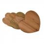 Kit Tábuas de Coração em Madeira Maciça