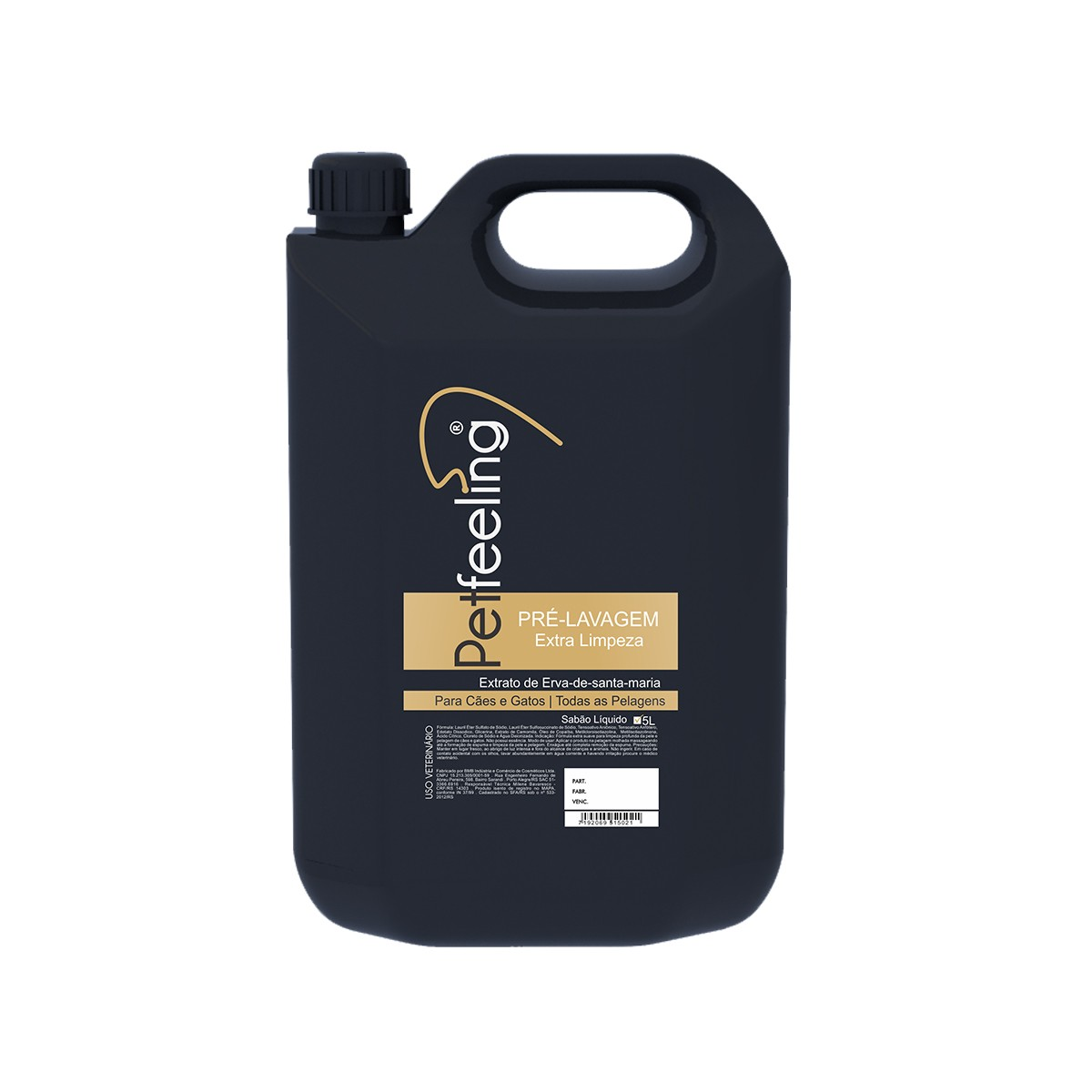 Shampoo Pré Lavagem Extra Limpeza- 5L Petfeeling