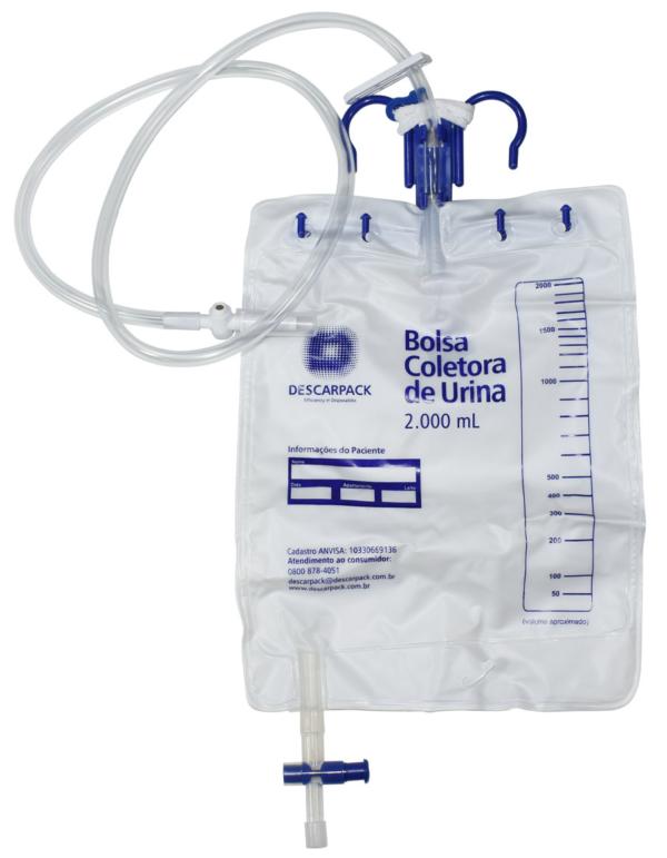BOLSA COLETORA DE URINA 2L - 0490101 - DESCARPACK - 1UN