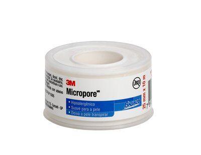 FITA MICROPORE BRANCA 25MM X 10M - 1530 - 3M - 1UN