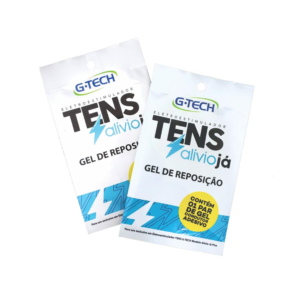 PAR DE GEL CONDUTOR ADESIVO TENS - ALÍVIO JÁ - G-TECH - 1UN