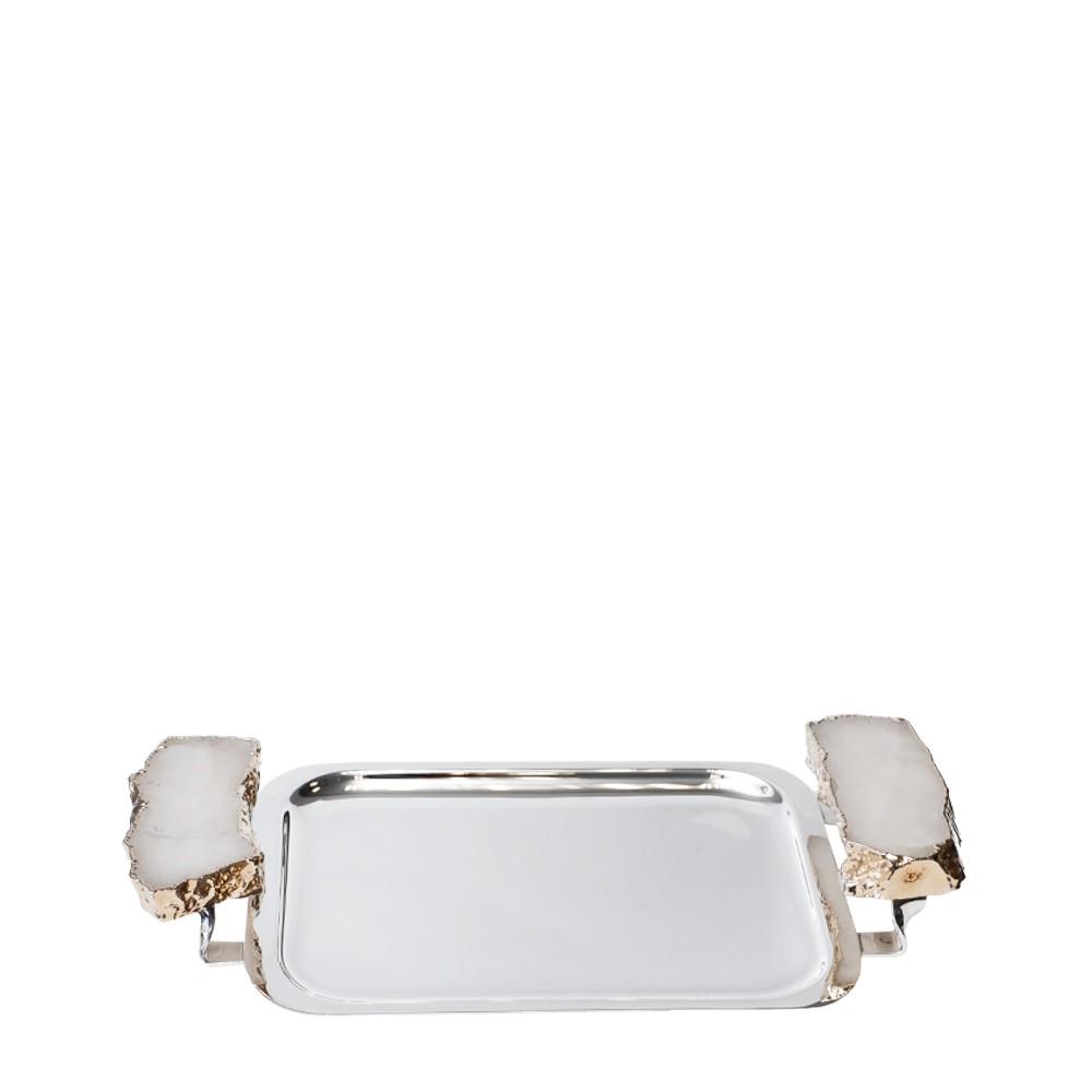 Bandeja Prata P Cristal