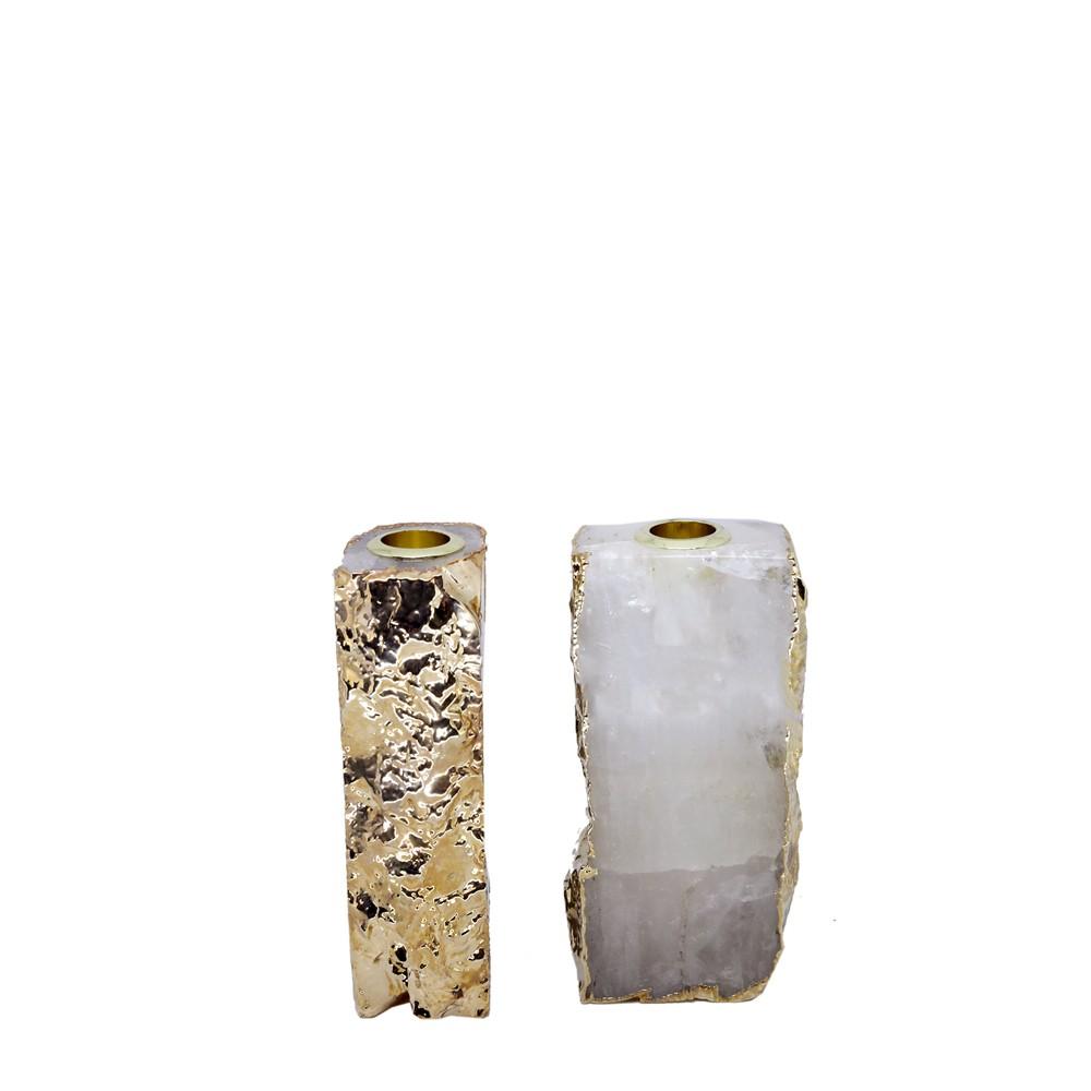 Castiçal Cristal Quartzo