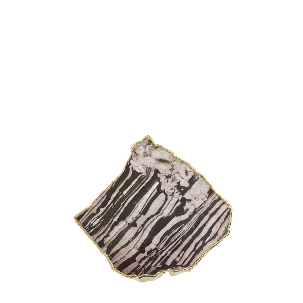 Mini Platter Jaspe com Borda Ouro