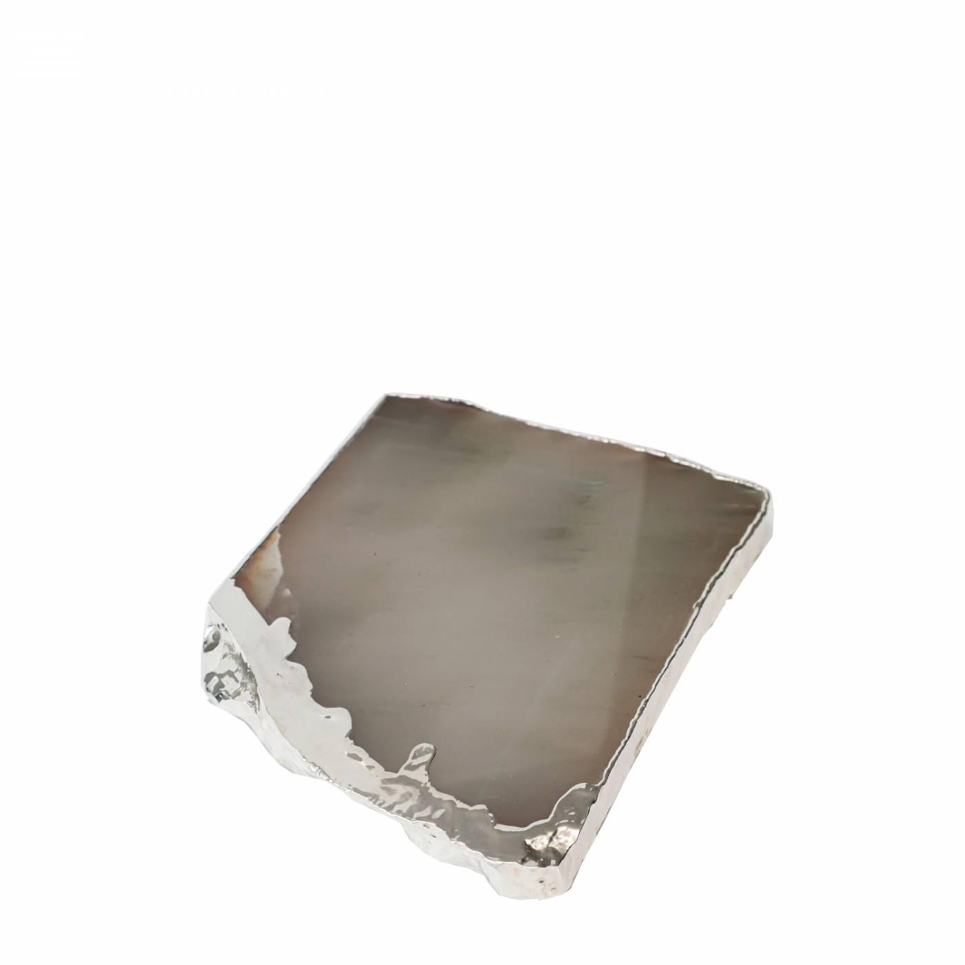 Platter de Aragonita em Prata Escorrido