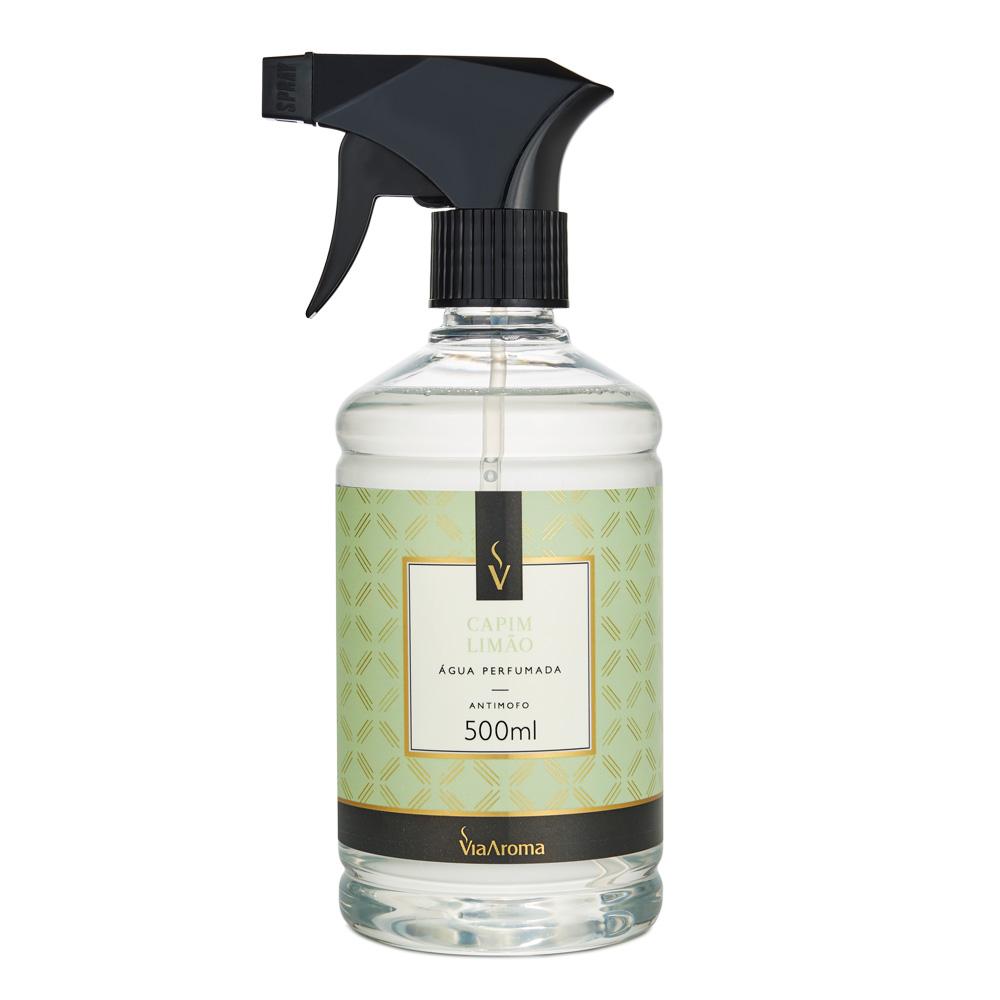 Água Perfumada para Tecidos Via Aroma Capim Limão 500 ml