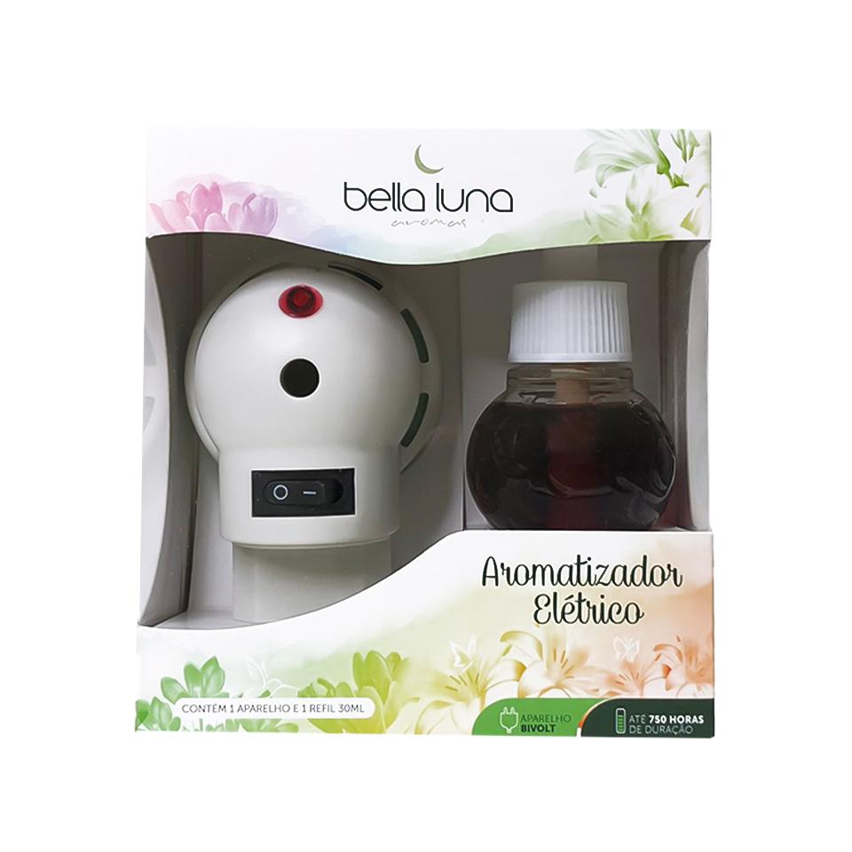 Aromatizador Elétrico Baunilha Bella Luna com Refil de 30ml - 750 Horas de Duração