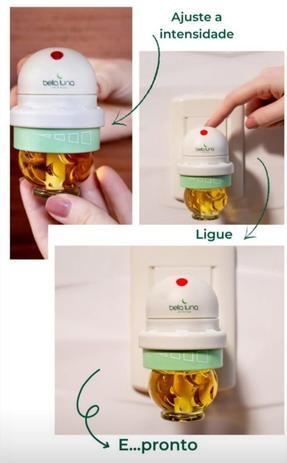 Aromatizador Elétrico Capim Limão Bella Luna com Refil de 30ml - 750 Horas de Duração