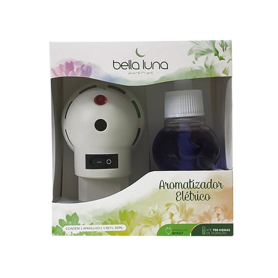 Aromatizador Elétrico Harmonia Bella Luna com Refil 30ml - 750 Horas de Duração