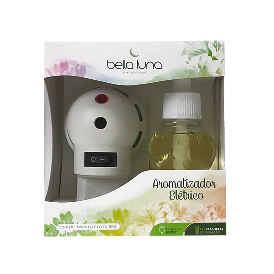 Aromatizador Elétrico Mamãe Bebe Bella Luna com Refil de 30ml - 750 Horas de Duração