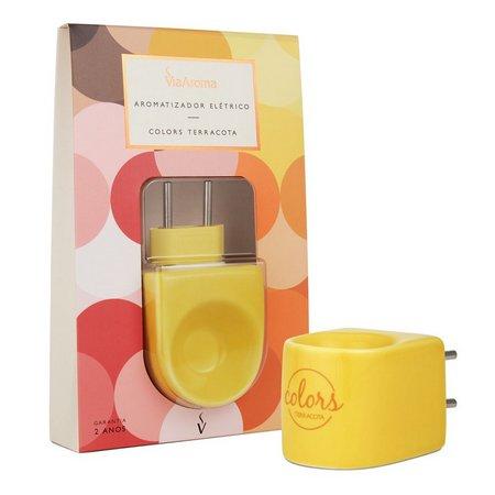 Aromatizador Via Aroma Colors Terracota Amarelo