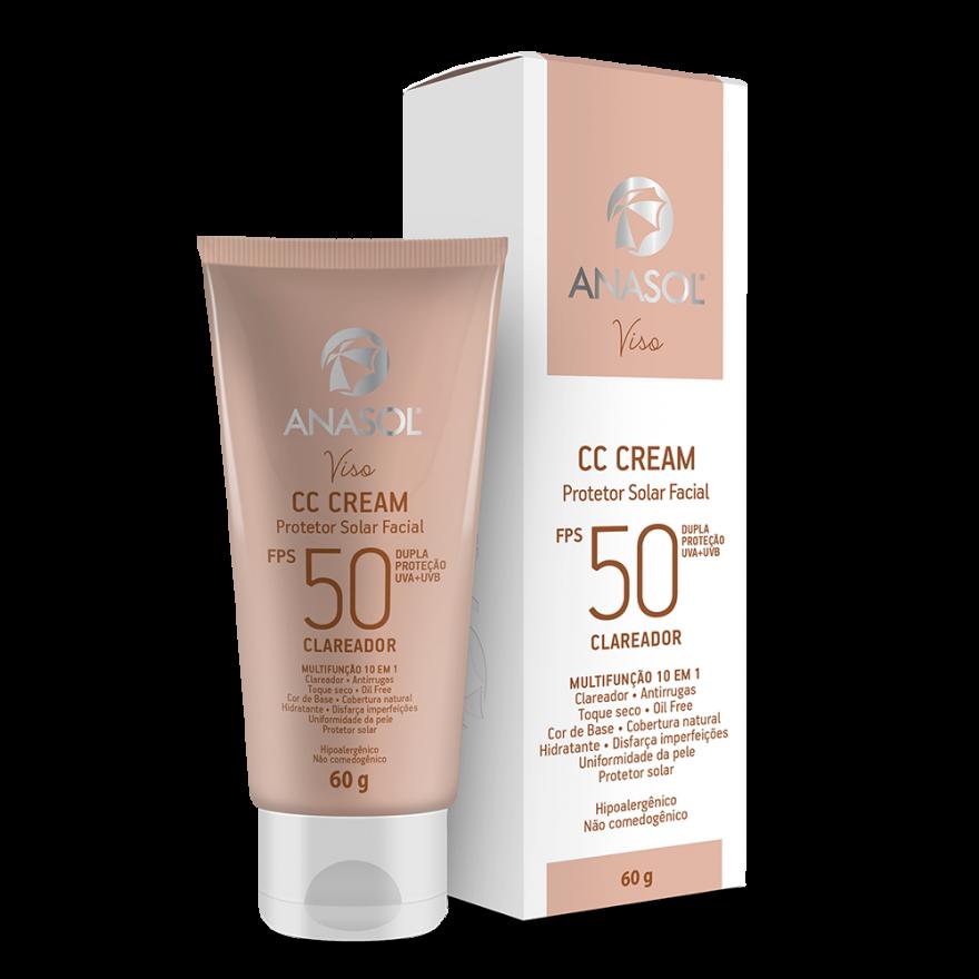 CC Cream Clareador Anasol Viso Fps 50 60g