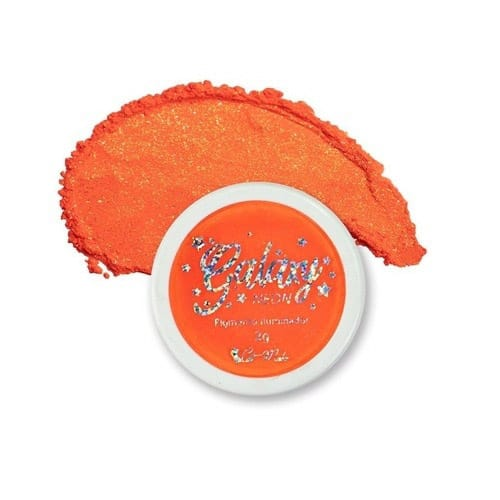 Galaxy Neon 06 Orange Glow Pigmento Iluminador Cat Make 2g