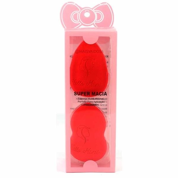 Kit Esponja Gota Hello Mini Super Macia - Cores Variadas