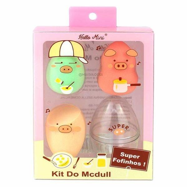 Kit Esponja Mcdull com 3unid Hello Mini