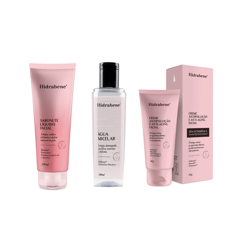 Kit Limpeza Facial + Hidratação Hidrabene