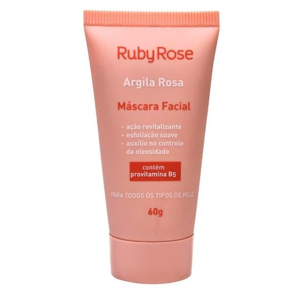 Máscara Facial Argila Rosa Ruby Rose 60g