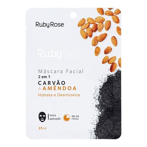 Máscara Facial Carvão e Amêndoa Ruby Rose