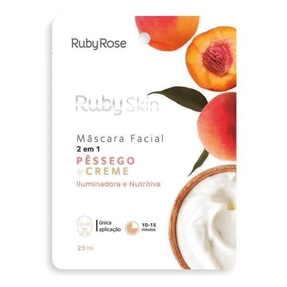 Máscara Facial Pêssego e Creme Ruby Rose