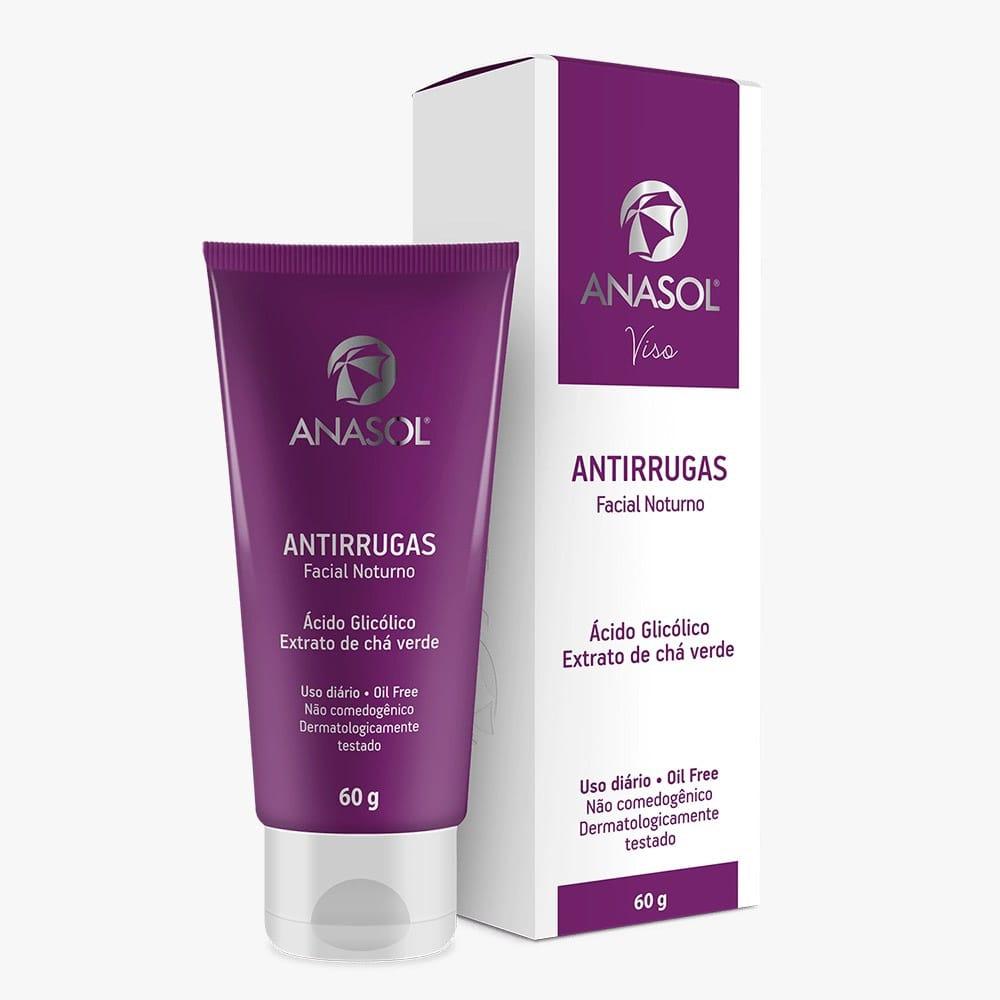 Protetor Solar Facial Antirrugas Anasol Fps 50 60g