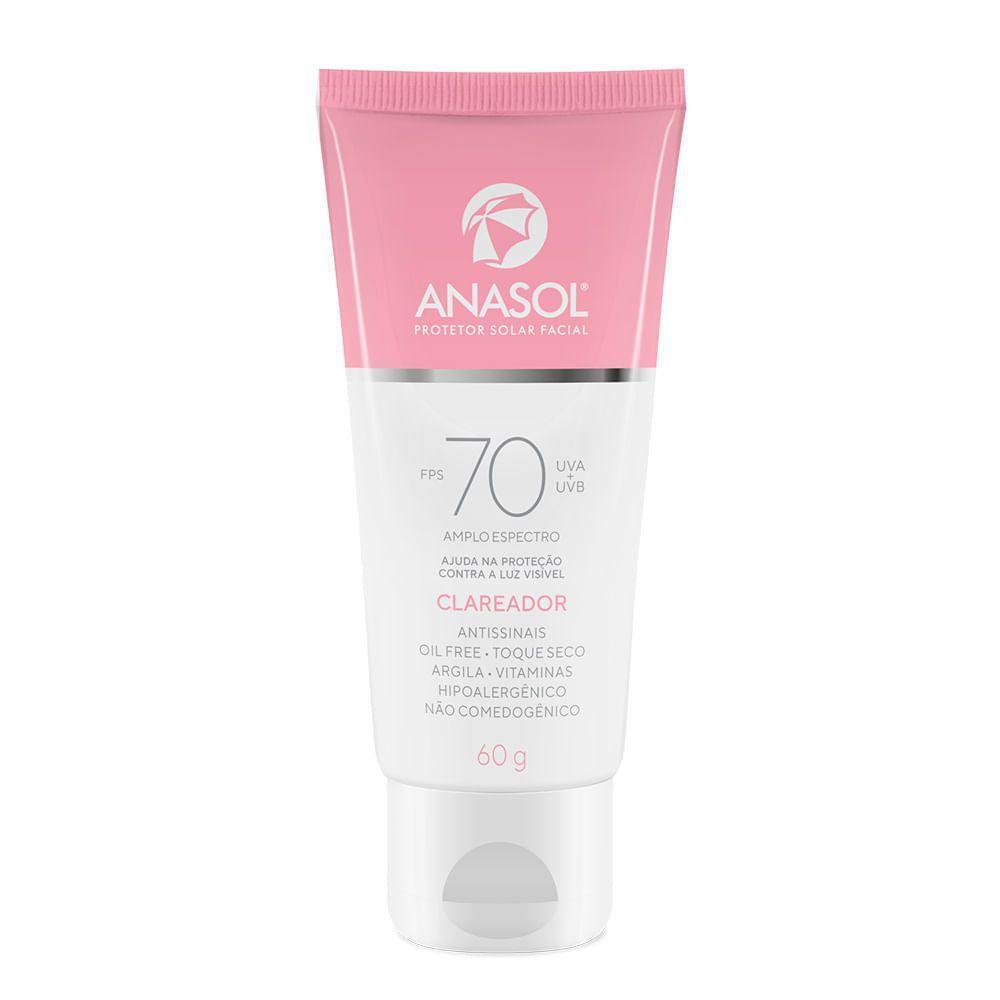 Protetor Solar Facial Clareador Anasol Fps70 60g