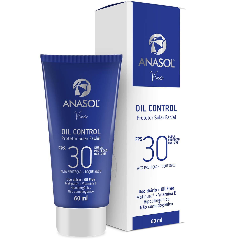 Protetor Solar Facial Oill Control Anasol FPS 30 60ML