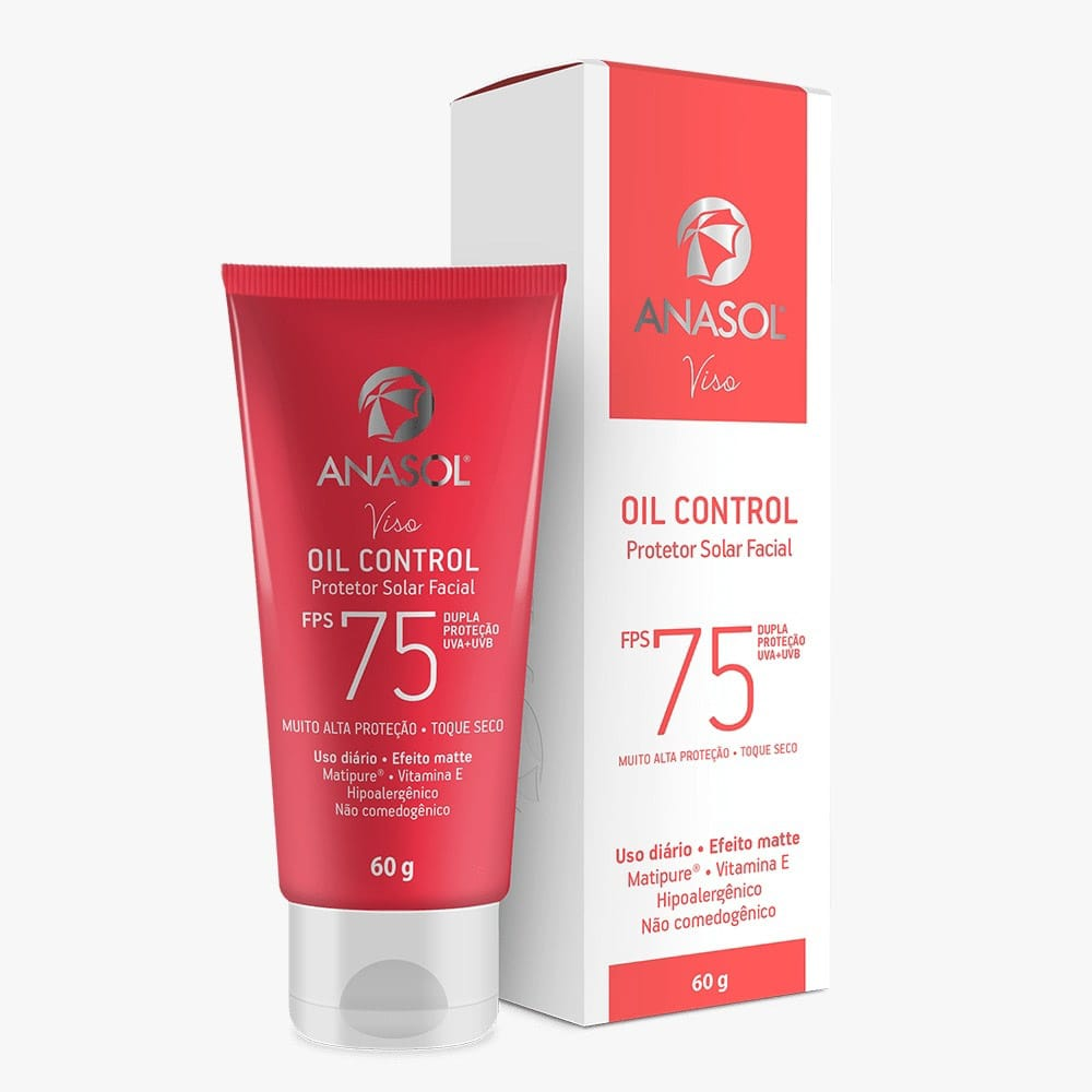 Protetor Solar Facial Oill Control Anasol Viso Fps 75 60g