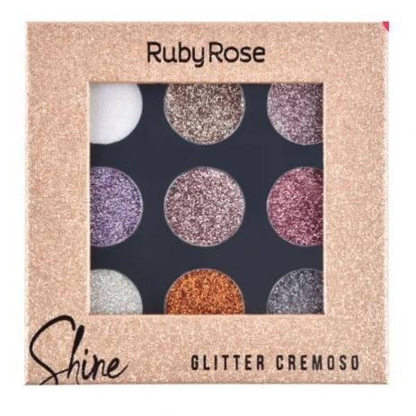Sombra Glitter em Creme Shine Ruby Rose-G
