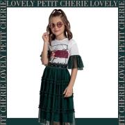 Conjunto Petit Cherie tule verde saia mid
